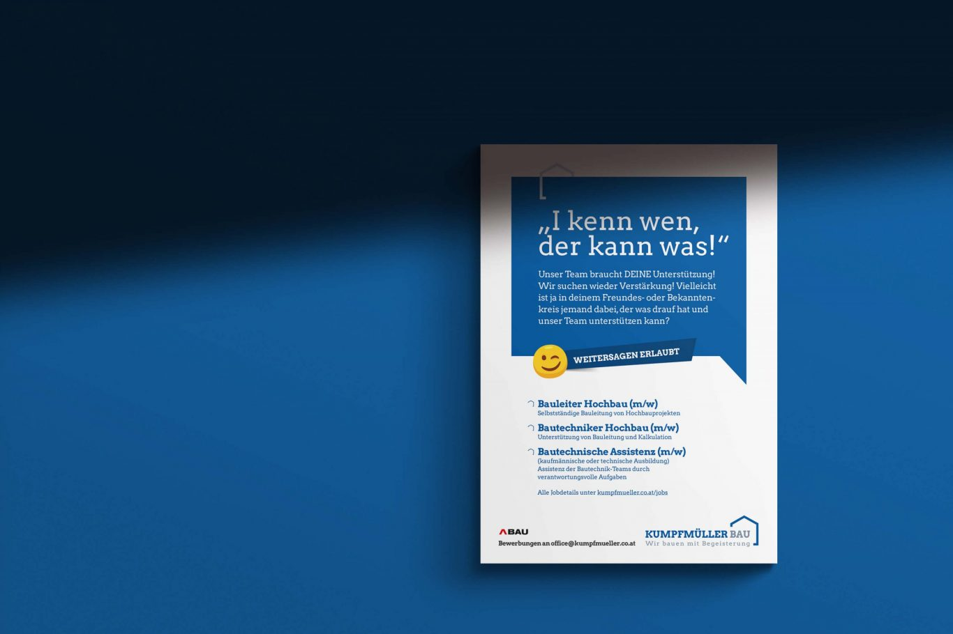Kumpfmüller Bau Plakat