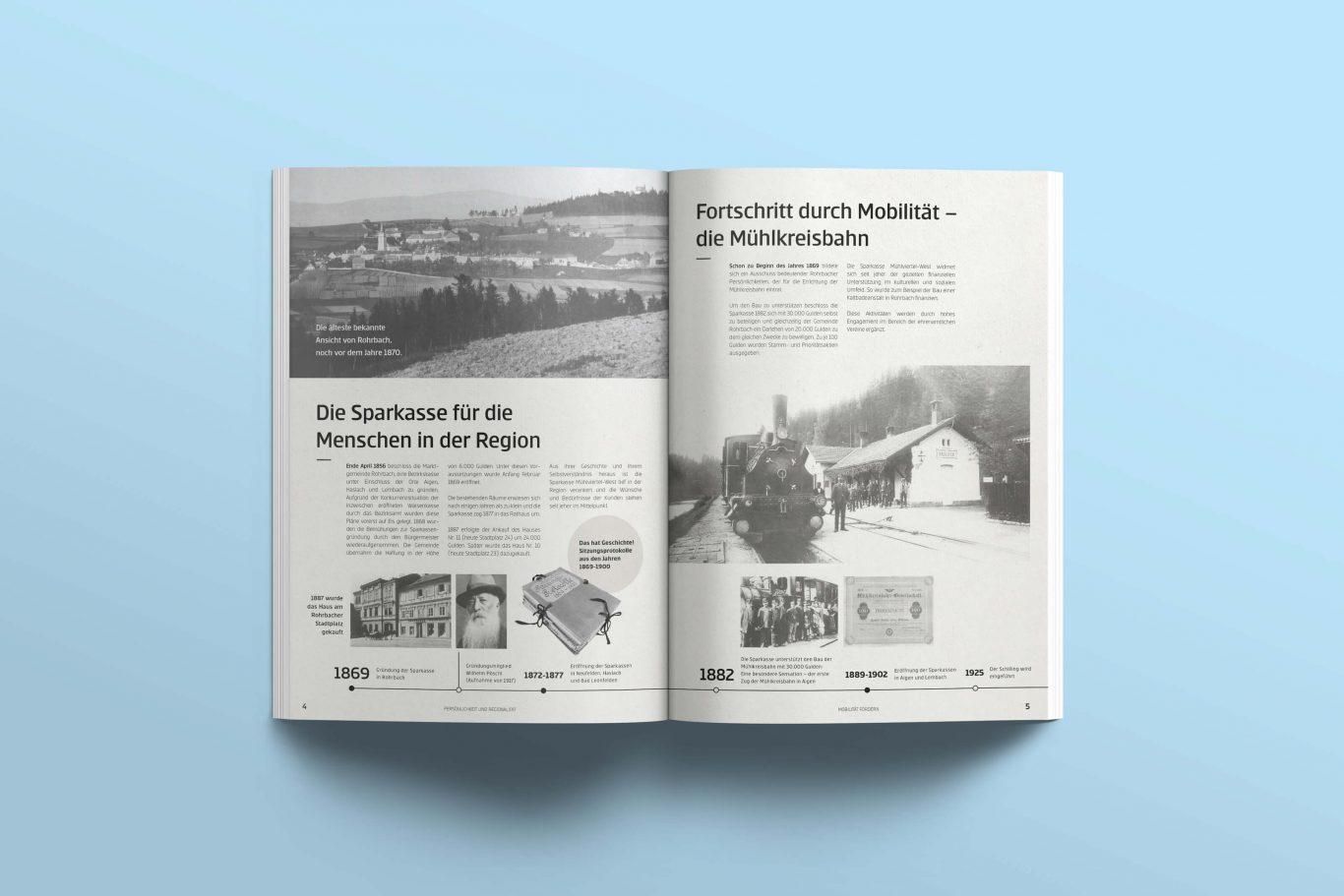 Sparkasse Mühlviertel-West Jubiläumszeitung Geschichte