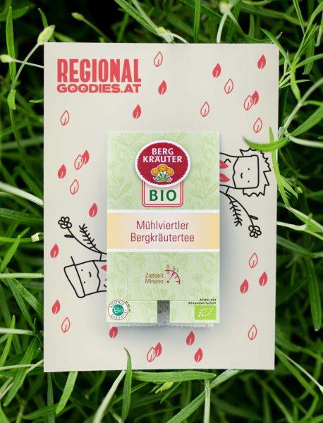 Tee RegionalGoodies auf Gras