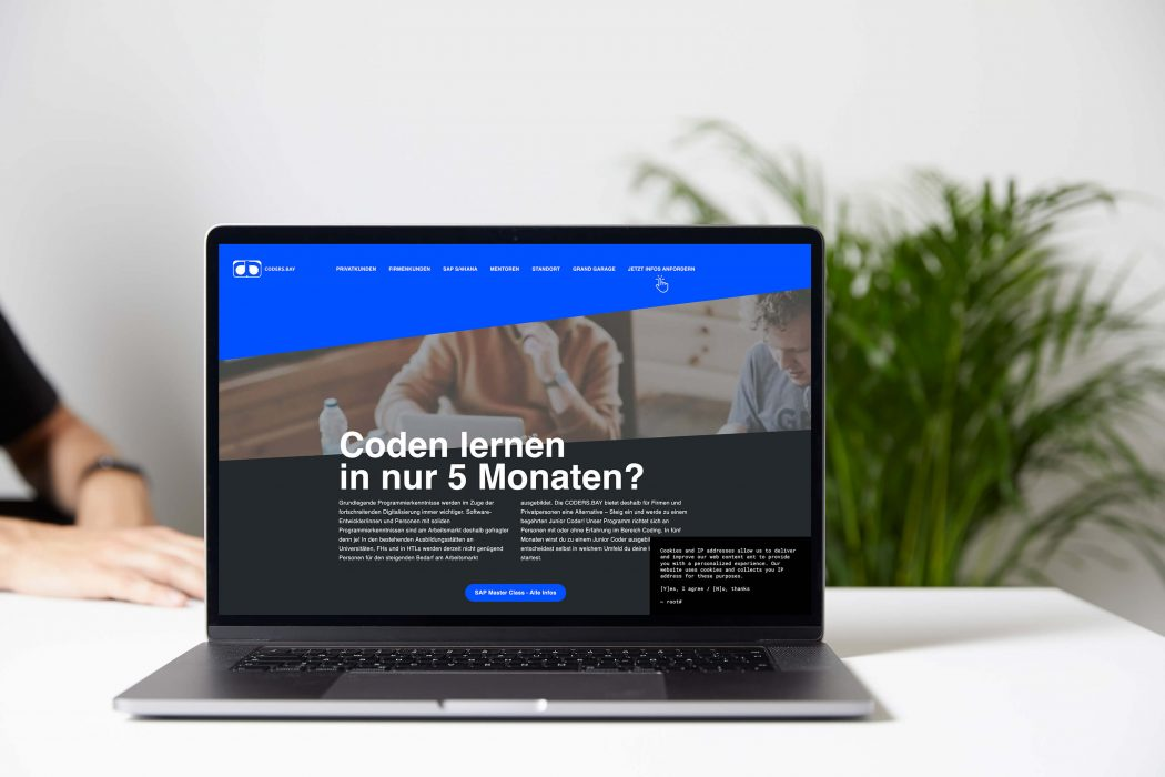 Webdesign für die CODERS.BAY von Andares Marketing und Kommunikation
