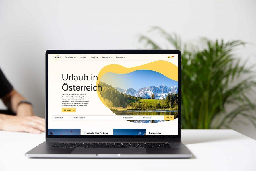 Webdesign Reisewelt von Andares Marketing und Kommunikation
