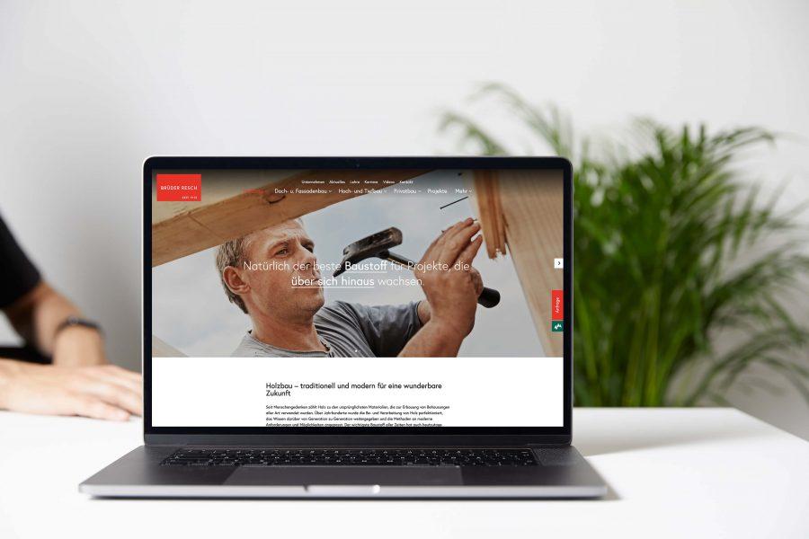 Webdesign für Resch Bau von Andares Marketing und Kommunikation